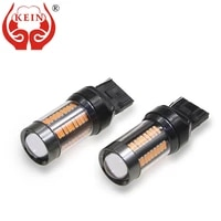 kein 2pcs t20 7440 led w21w 4014 66smd 12v auto reverse drl rear turn signal 7440 led car lights lamp with hd lens white yellow