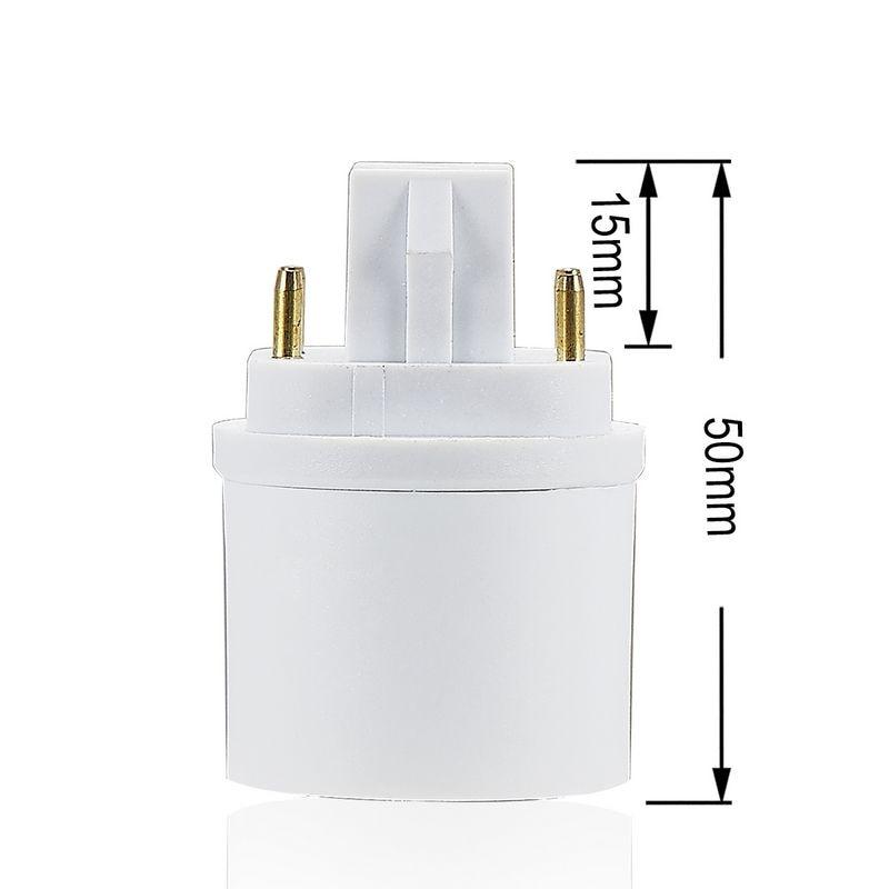 100 Uds. GX24 a E27 portalámparas GX24Q a E27 E26 Adaptador convertidor lámpara Base Socket LED Bombilla extender enchufe