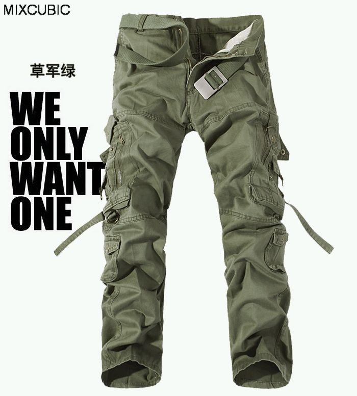 military uniform pants men Multi-pocket washed overalls men loose cotton pants men military cargo pants for men,large size 28-42