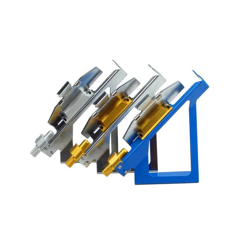 Una pieza Fletching jig Metal Sticker herramientas plumas DIY abrazadera magnética herramienta paleta