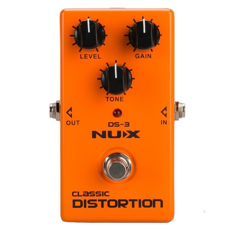 Pedal de distorsión NUX DS-3, tubo de guitarra analógico, efectos de distorsión, pedal, distorsión, sonido marrón