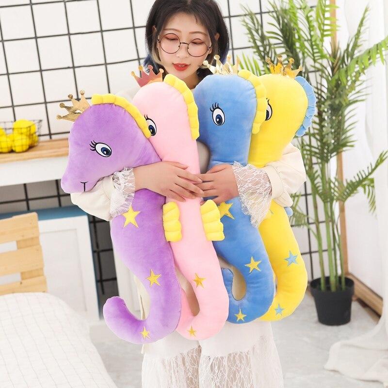 110 см, милая Корона, морская лошадь, мягкие плюшевые игрушки, чучела, гиппокамп, животное, диванная подушка, огромная мягкая подушка, подарок ...