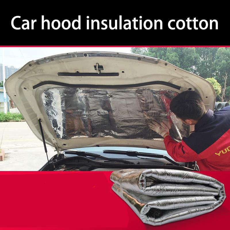 lsrtw2017 Car hood engine noise insulation cotton heat for nissan versa tiida sunny sylphy sentra x-trail qashqai murano