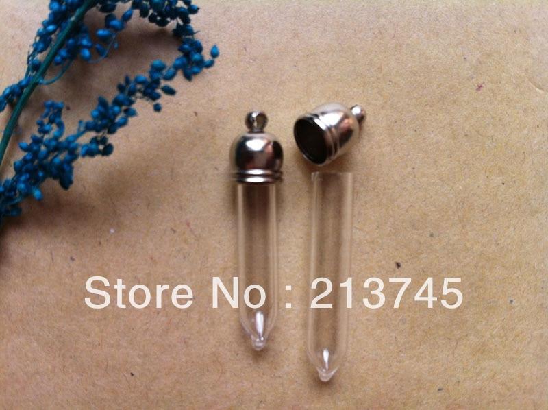 Envío libre! 300 unids/lote tubo recto tubo frasco 5mm (tapa de metal/Mini/encanto/arroz/ bottl/vals)