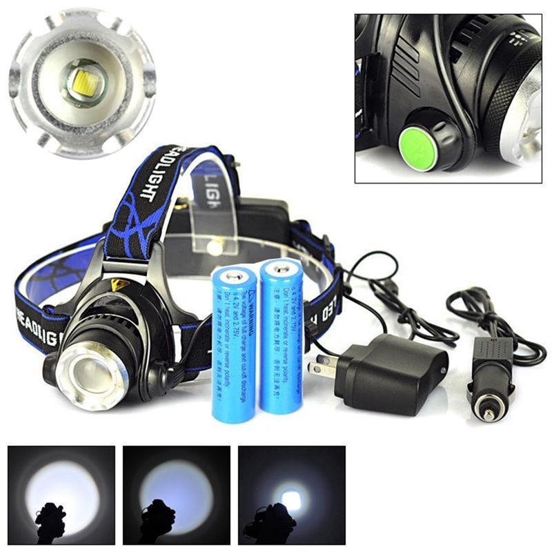 SOLLED T6 LED akumulatorowa czołówka z funkcją zoom