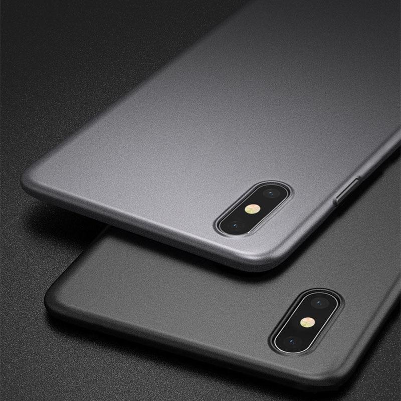 Funda trasera de lujo Original ultrafina mate suave silicona carcasa para iPhone 6 s 6 s 7 8 Xr Xs Max a prueba de golpes