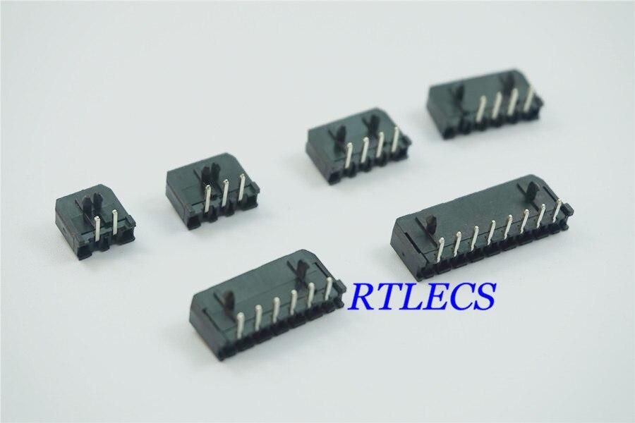 10 pcs Micro-Ajuste 3.0mm conector wafer único 1x2 row 2 Pin 3 4 5 6 8 Pin Ângulo Direito Através Do Furo PCB placa de fio de Solda 43650