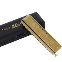 Harmonica à clé 16 trous SWAN SW1664 C avec quatre Octaves chromatiques