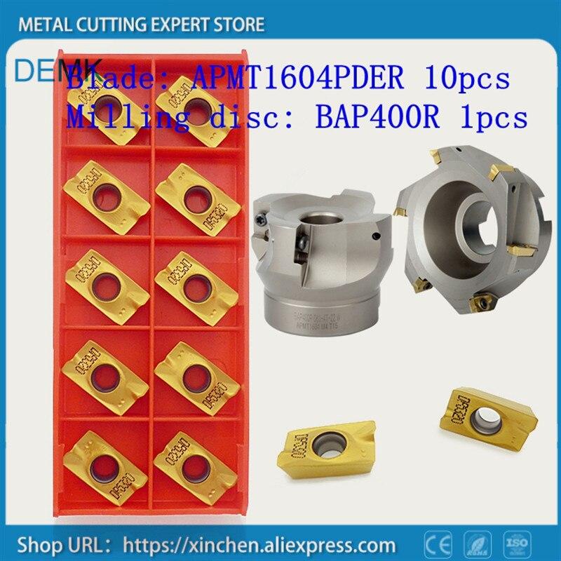 سكين قطع طحن BAP400R 80-27-6T مع آلة طحن الوجه APMT1604 PDER ، آلة طحن الوجه 10 مللي متر
