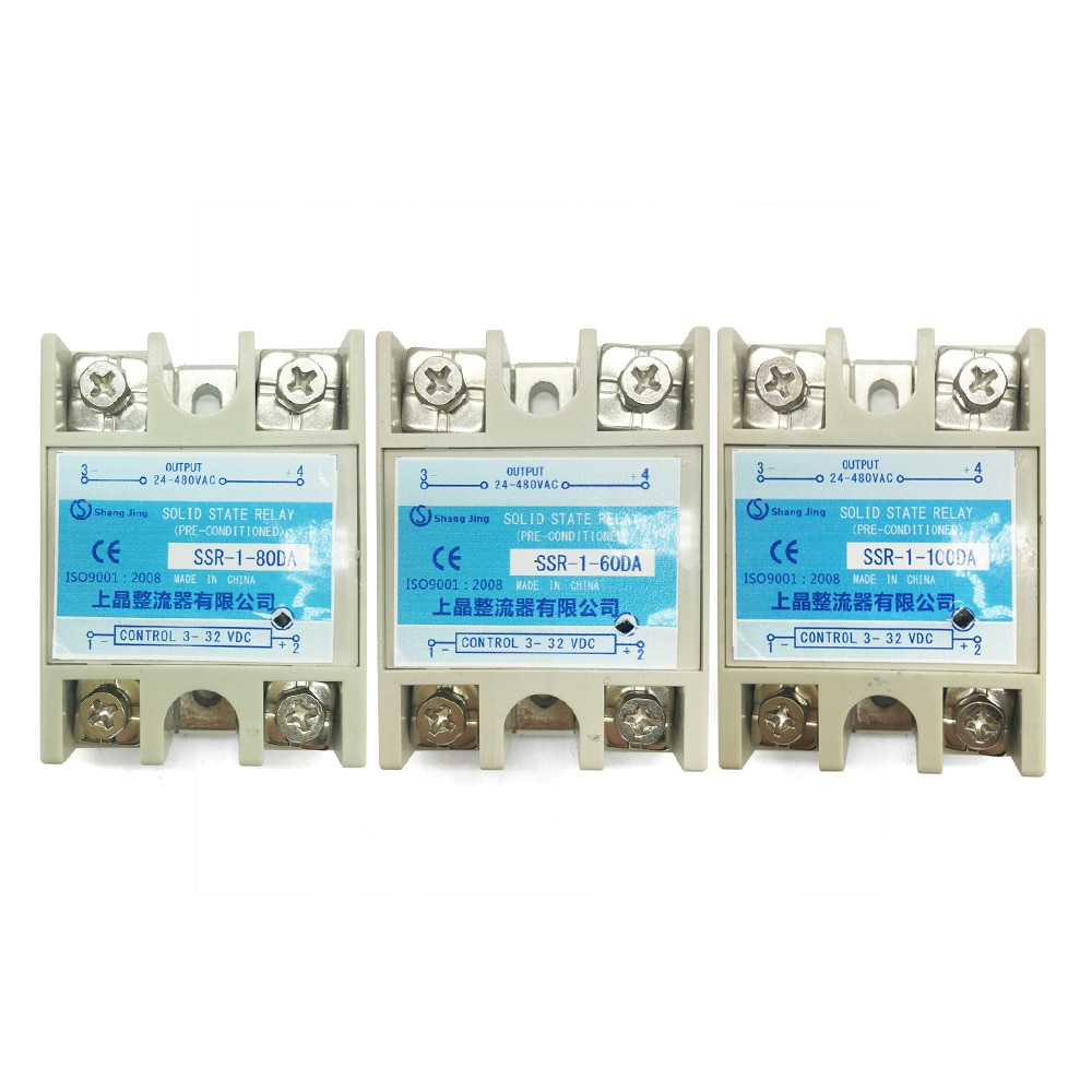 2018 good quality reputation newly single phase relay ssr outline 57.4*44.8*28mm current 10A input 3~32VDC output 35~480VAC 2018