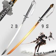Lame de Cosplay en alliage de Zinc   Pour Game NieRAutomata épée 2B/9 s, lame en acier véritable, accessoire de Cosplay, Swords décoratifs sans tranchant