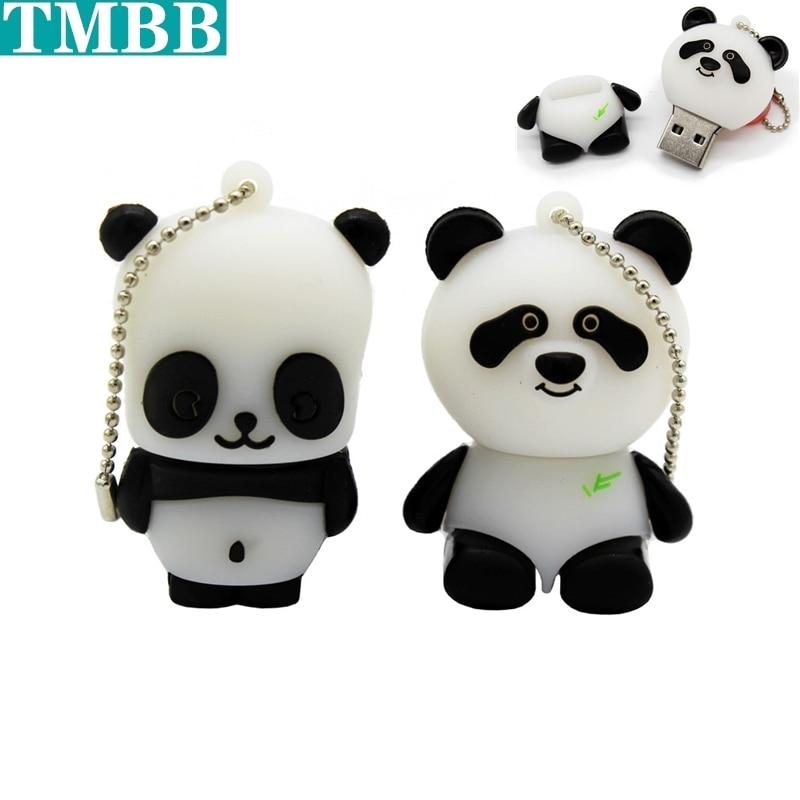 New fashion USB Flash Drive 64GB 32GB 16GB 8GB 4GB 128GB cartoon Panda Pen drive flash Memory Bear cat lovely U Disk pendrive