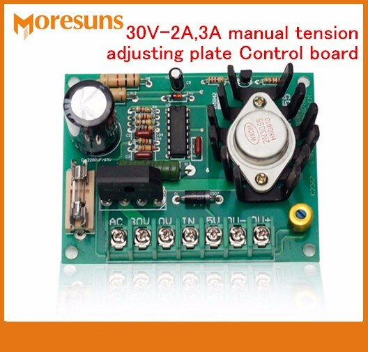 Free Ship 30V-2A,3A manual tension adjusting plate Control board slitting machine magnetic powder clutch brake board