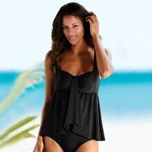 Grande taille 3XL femmes chaudes Tankini ensemble Dot Print maillot de bain tendance dames maillot de bain femme maillot de bain été vêtements de plage