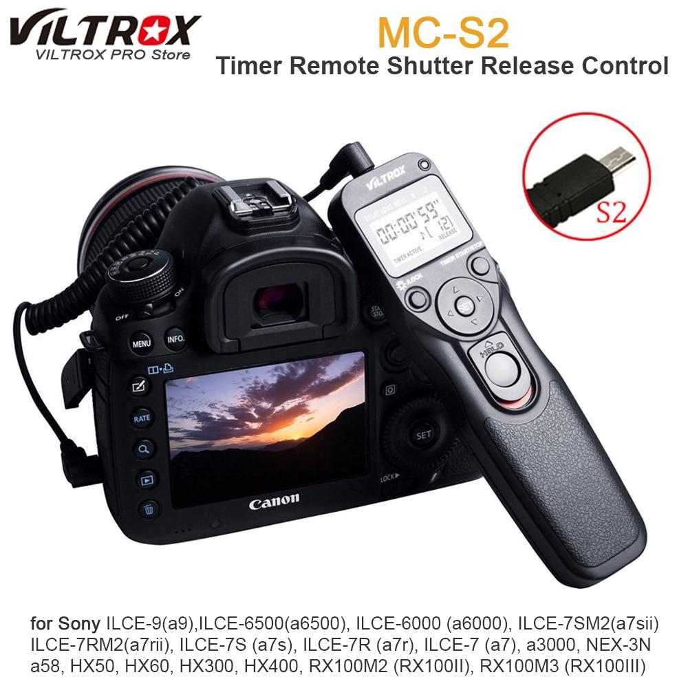 VILTROX temporizador mando con control remoto Intervalometer con S2 Cable para SONY alpha A7RII A7MII A7SII RX100III IV RX10 A6500 A6300