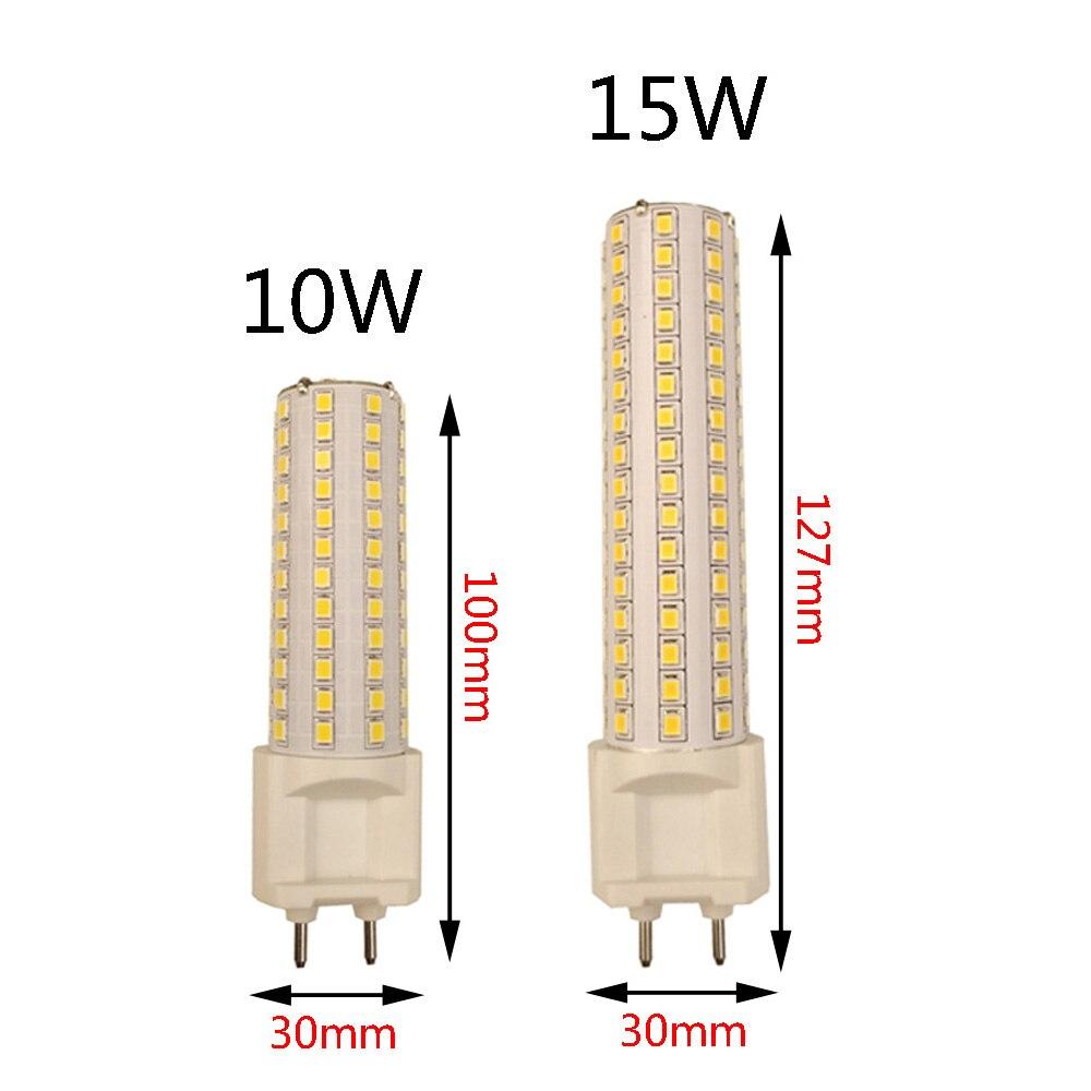 LED G12 SMD2835 108led 144led 10W 15W AC85V-265V Led-lampen Lampada Bombillas lampe Mais lichter Ultra helle