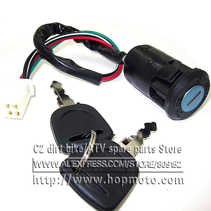 4 wires Ignition Switch Key lock for Universal Motorcycle   Honda Yamaha Kawasaki Suzuki KTM or ATV dirt bike pit bike