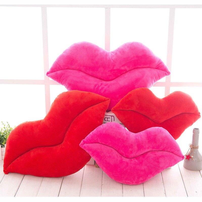 Criativo lábios vermelhos forma almofada casa decorativa lance travesseiro sofá cintura almofada têxtil para casa