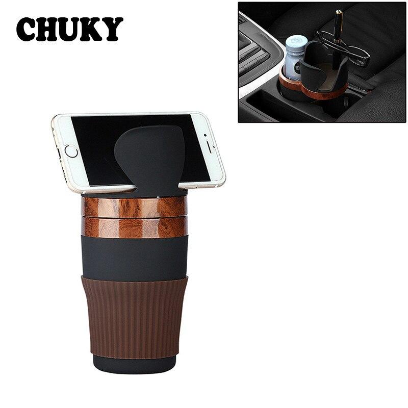 Soporte para taza de bebidas de coche, soporte para teléfono con llaves de moneda para Ford Focus MK2 2 3 Mondeo MK4 Kuga Fusion Ranger Toyota chr Avensis yaris