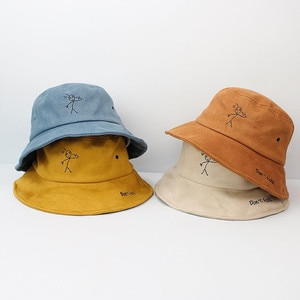 2021 four seasons warm Thicken cotton embroidery Bucket Hat Fisherman Hat outdoor travel Sun Cap for men and Women 508
