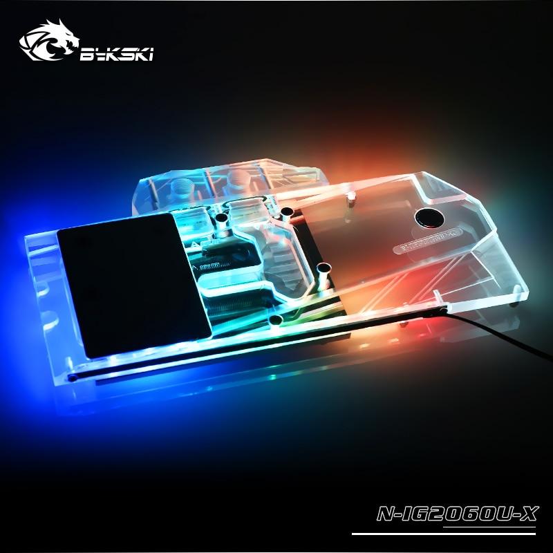 Bloque de agua BYKSKI para el uso colorido iGame RTX2060 Ultra/iGame GTX1660Ti Ultra 6G/cubierta completa tarjeta gráfica radiador bloque de cobre
