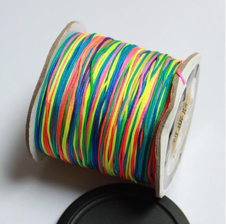 0,6mm, 98 metros/rollo, nudo chino con cuentas, cordón de nailon, hilo de macramé, brazalete de cinta trenzada, cuerda CD-13