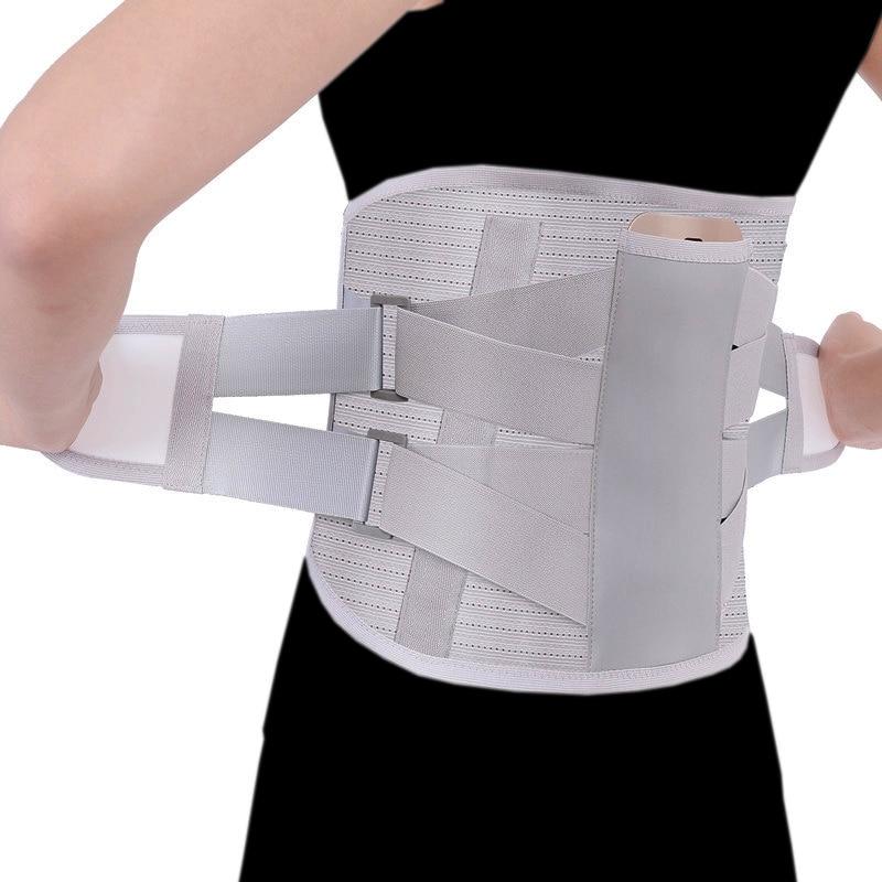 Ортопедический Поясничный поддерживающий пояс для мужчин и женщин, турмалиновый самонагревающийся Магнитный Расширенный пояс для поясницы, стальная кость с 3 накладками