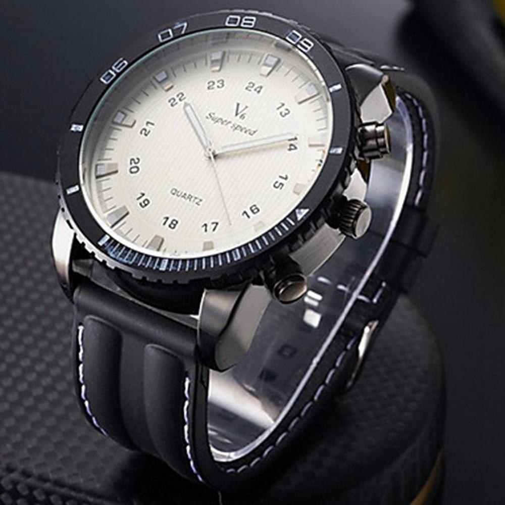 Marca de lujo superior de moda V6 reloj de cuarzo militar para hombres reloj de pulsera deportivo reloj de pulsera reloj de Hora Masculino Relogio Masculino 8A83