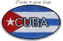 Drapeau de Cuba écusson brodé ovale   3