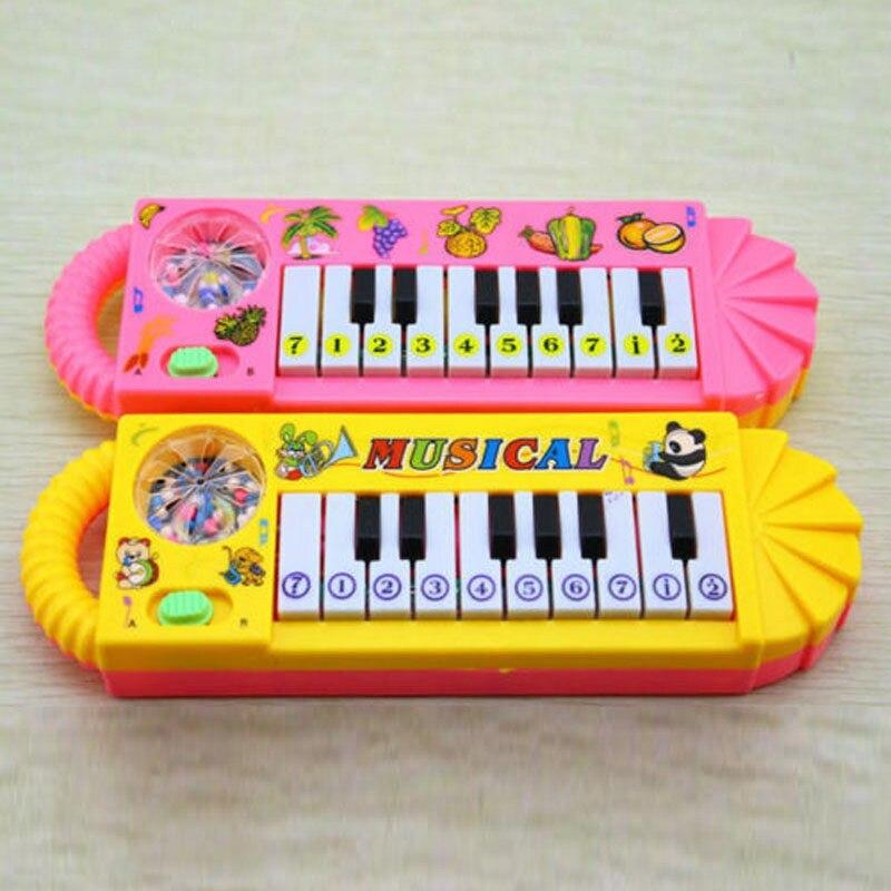 Nuevo 1 pieza bebé niño pequeño inteligencia juguetes de desarrollo niños Musical piano de juguete divertido juguete al azar