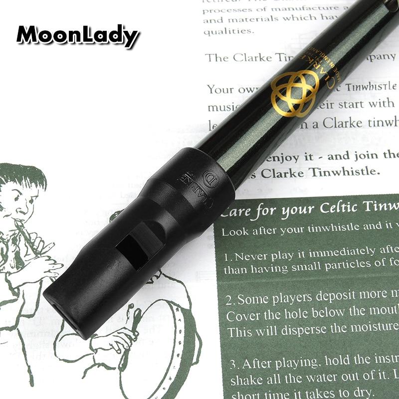 Traditional Clarke Flute Dark Green D Key Whistle Ireland Musical Instrument Irish Whistle Flute Woodwind Instrument Flute enlarge