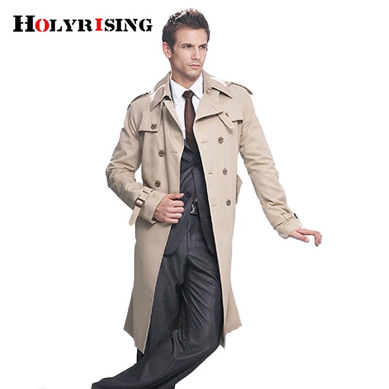 Тренчкот мужской классический двубортный, длинное пальто, одежда, длинные куртки и пальто в британском стиле S-6XL размера