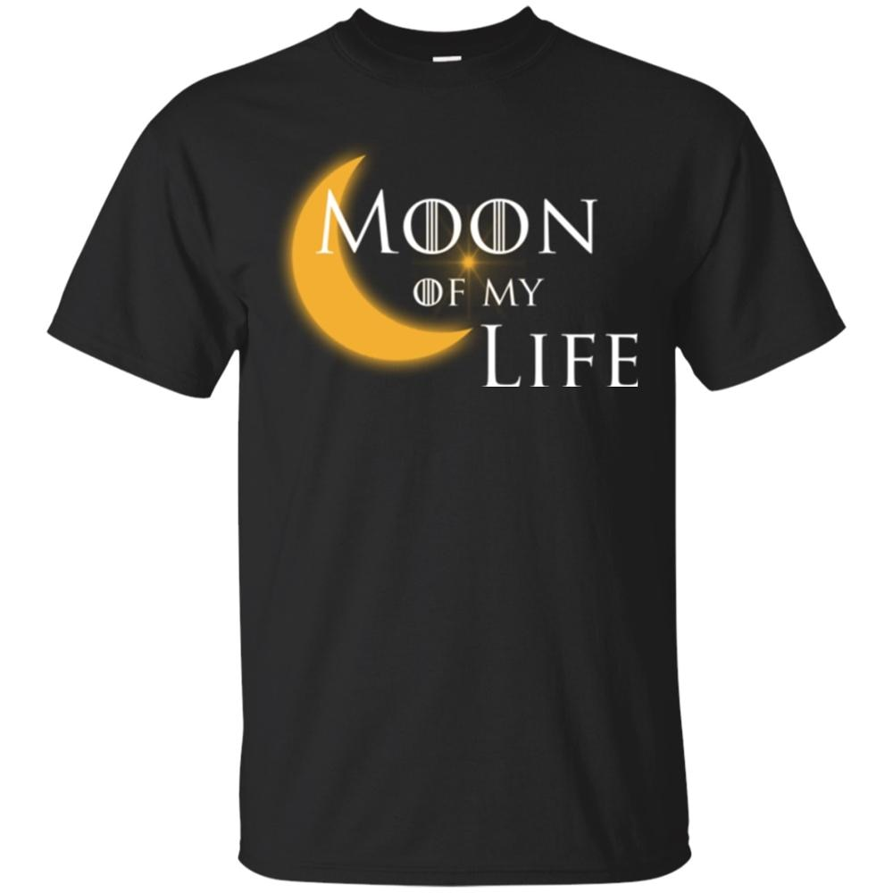 Luna de mi vida Khaleesi Khal Drogo Juego de tronos negro camiseta Jon Snow 2019 Super moda verano estampado crear T camisa