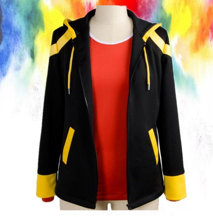 Mystic Messenger Cosplay Harajuku rizado 707 cosplay disfraz chaqueta con capucha de manga larga héroe halloween disfraz