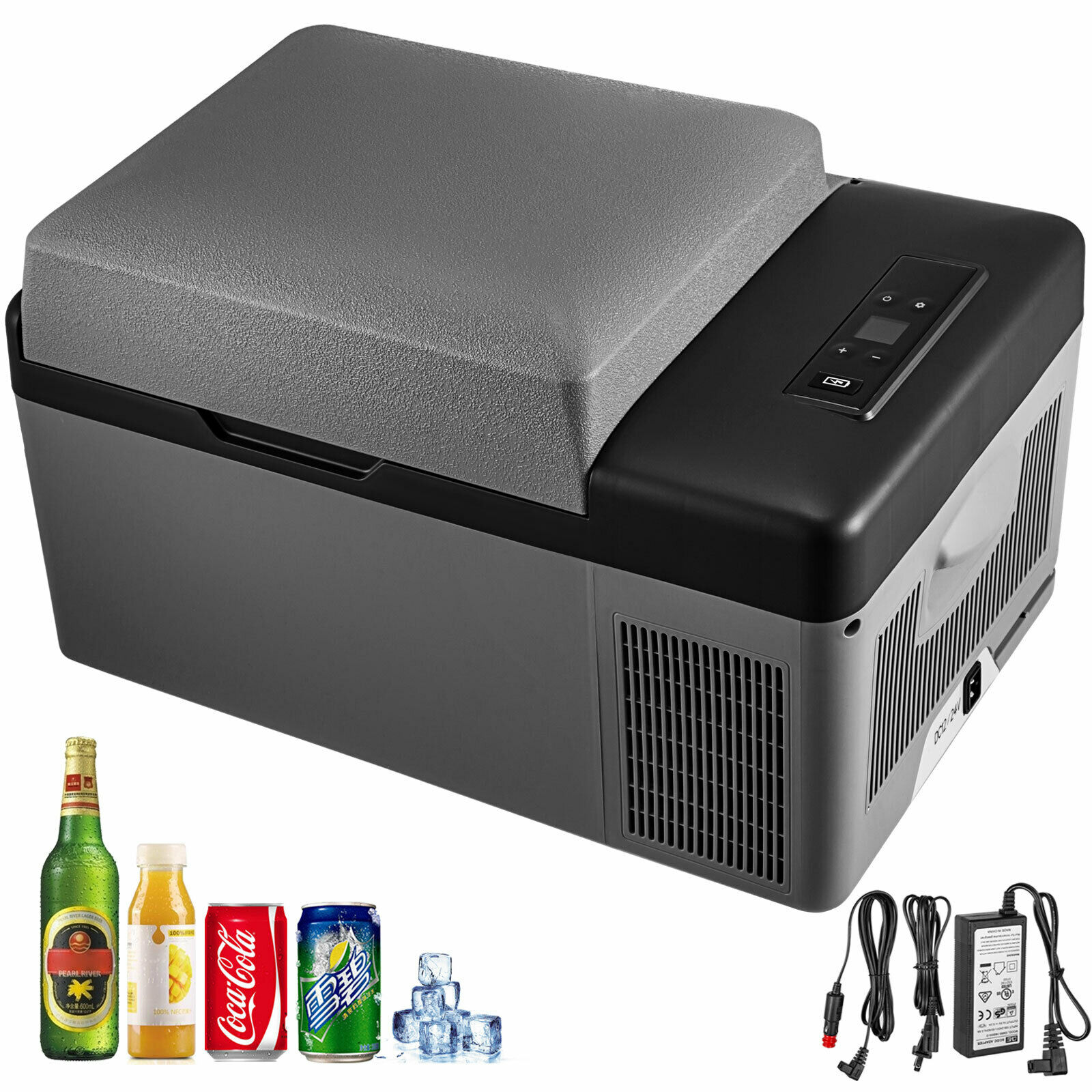 20L Portable Mini DC12V AC 220V Car Refrigerator Freezer Compressor Quick Cooling For Car Truck