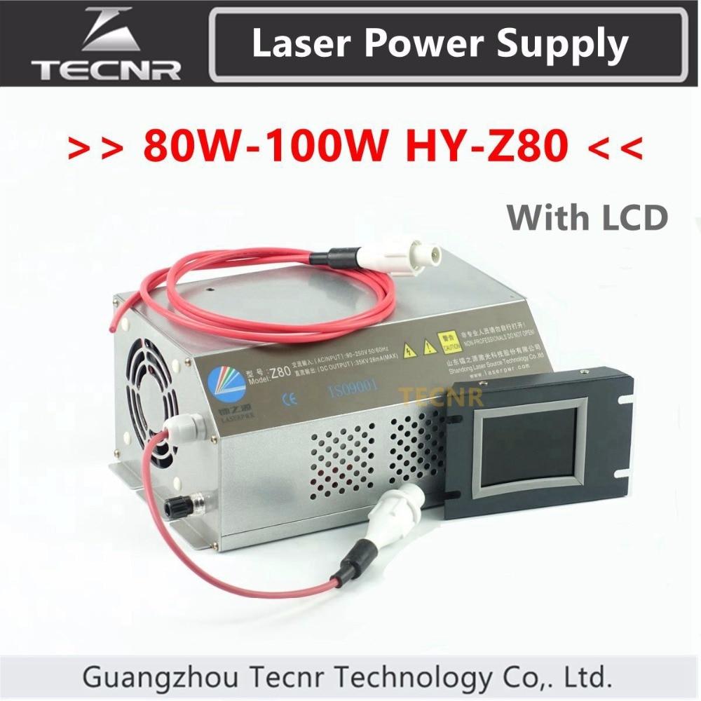 80W 100W CO2 fuente de alimentación láser Monitor AC90-250V láser máquina cortadora de grabado HY-Z80