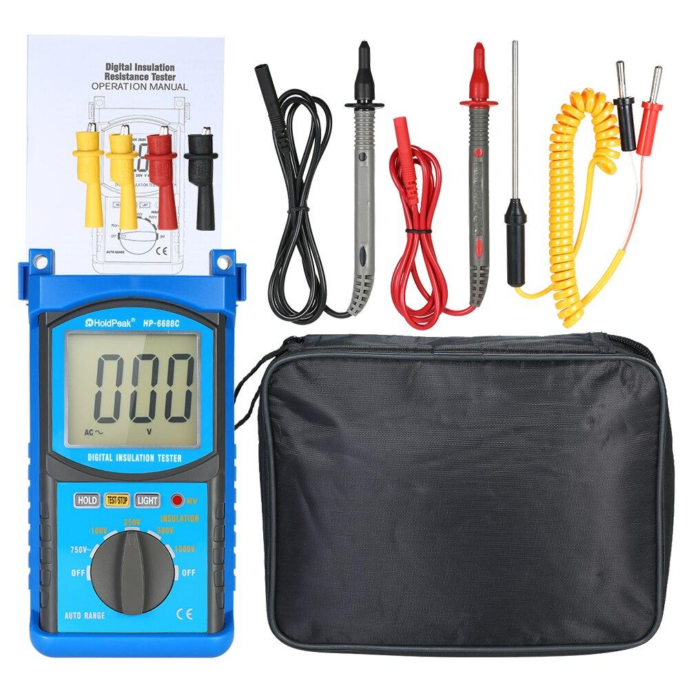 Digital Automotive Engine Analyzer Multimeter DC/AC Voltage Current Meter Capacitance Resistance Diode Tester Voltmeter Ammeter