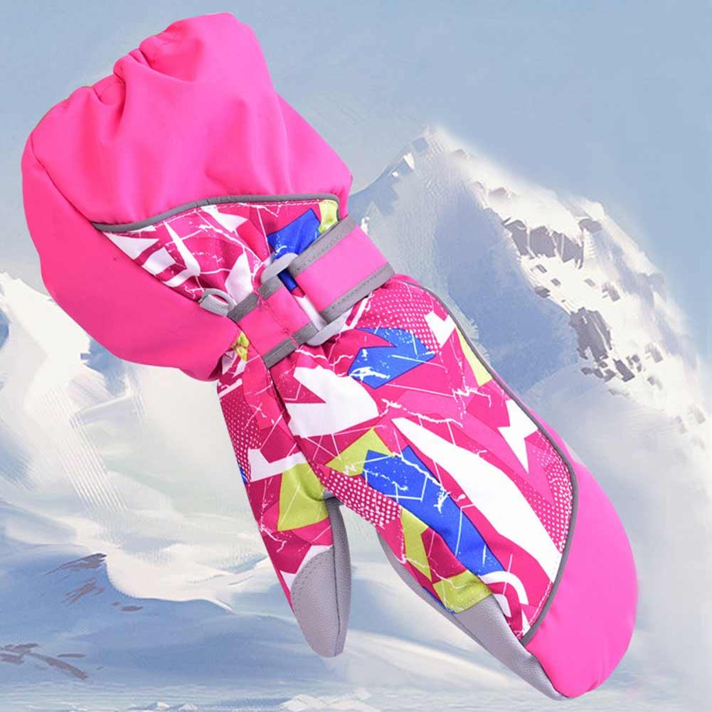 Guantes de invierno cálidos para niños, guantes de esquí para Snowboard, resistentes al viento, guantes para chicos y chicas, motocicleta al aire libre para uso en bicicleta