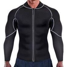 Nieuwe Mannen Taille Trainer Vest Voor Gewichtsverlies Neopreen Corset Body Shaper Rits Sauna Tank Top Workout Shirt Zwart Plus size S-4XL