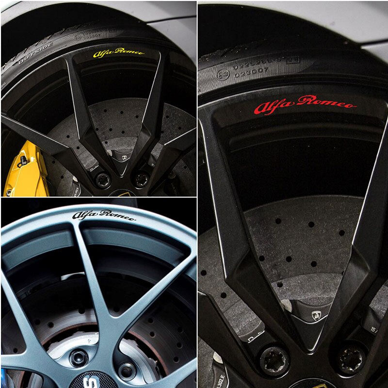 4 шт. для Alfa Romeo Giulietta литые диски, наклейки MiTo Giulietta Giulia 147 156