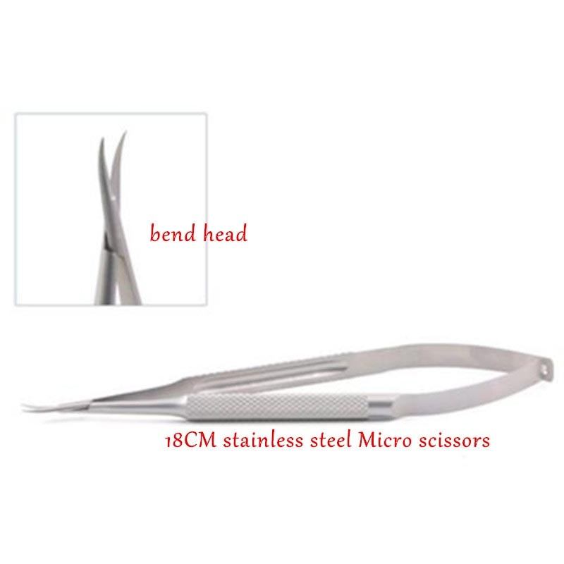 18cm ophthalmic microsurgical instruments Needle Holder Micro scissors Tweezers hand surgery four of equipment Package
