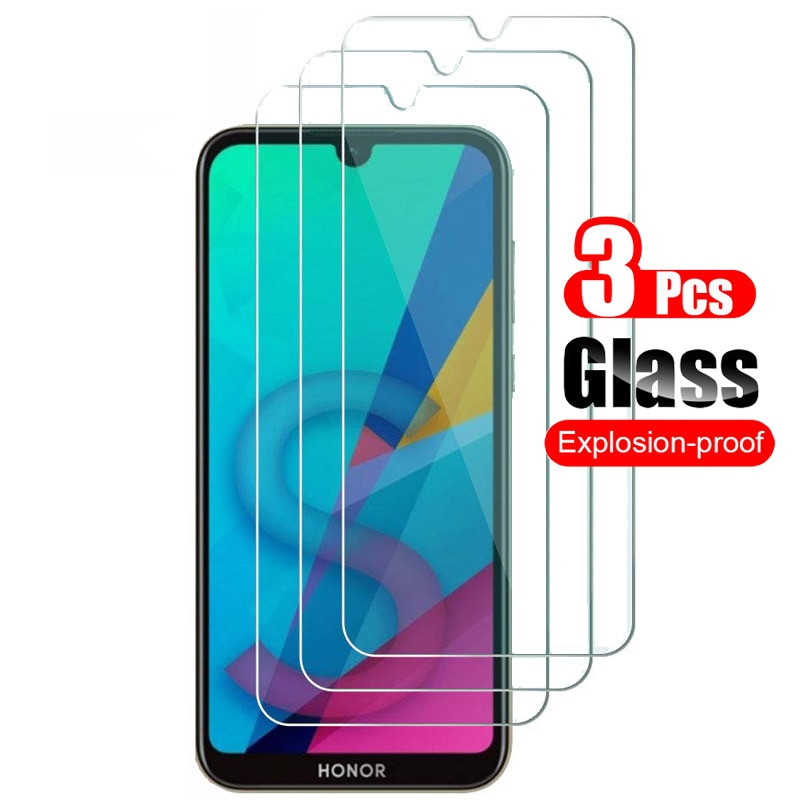 3Pcs For Huawei Honor 8S Tempered Glass Screen Protector For Huawei Honor 8S Front Protective Glass