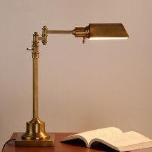 Américain Village bureau étude E27 LED chambre lampe de Table créativité industrielle rétro hôtel bureau décor balançoire bras lumières