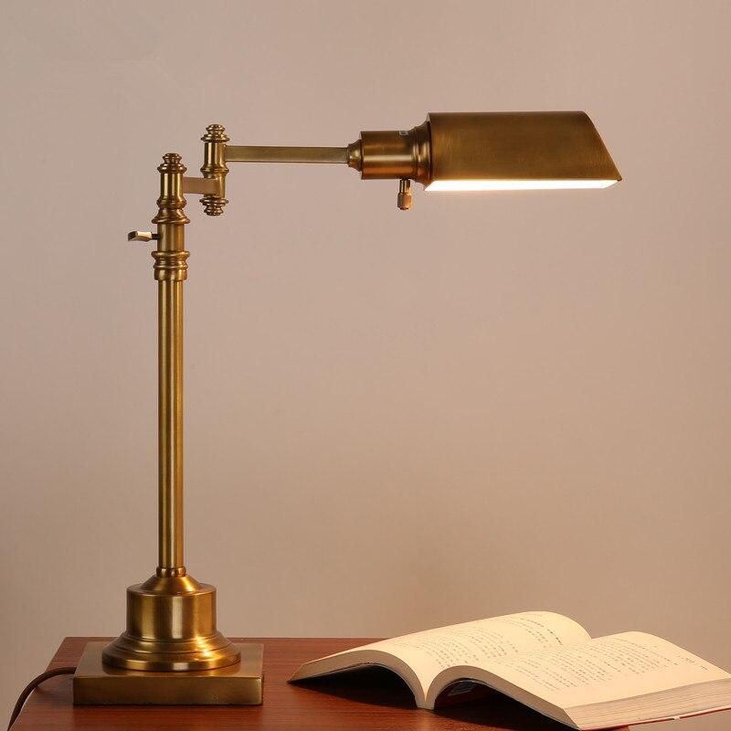 Amerikaanse Dorp Bureau Studie E27 Led Slaapkamer Tafellamp Creativiteit Industriële Retro Hotel Kantoor Decor Swing Arm Verlichting