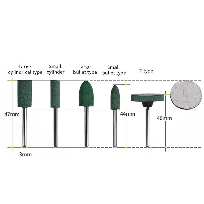 5 uds cabezal de molienda de punto montado en goma para acabado de - Herramientas abrasivas - foto 2