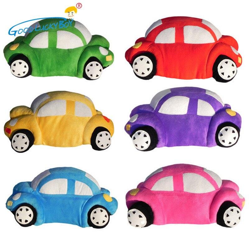 Bonitos juguetes de peluche para niños de 35CM en forma de coche cojín almohada de cumpleaños