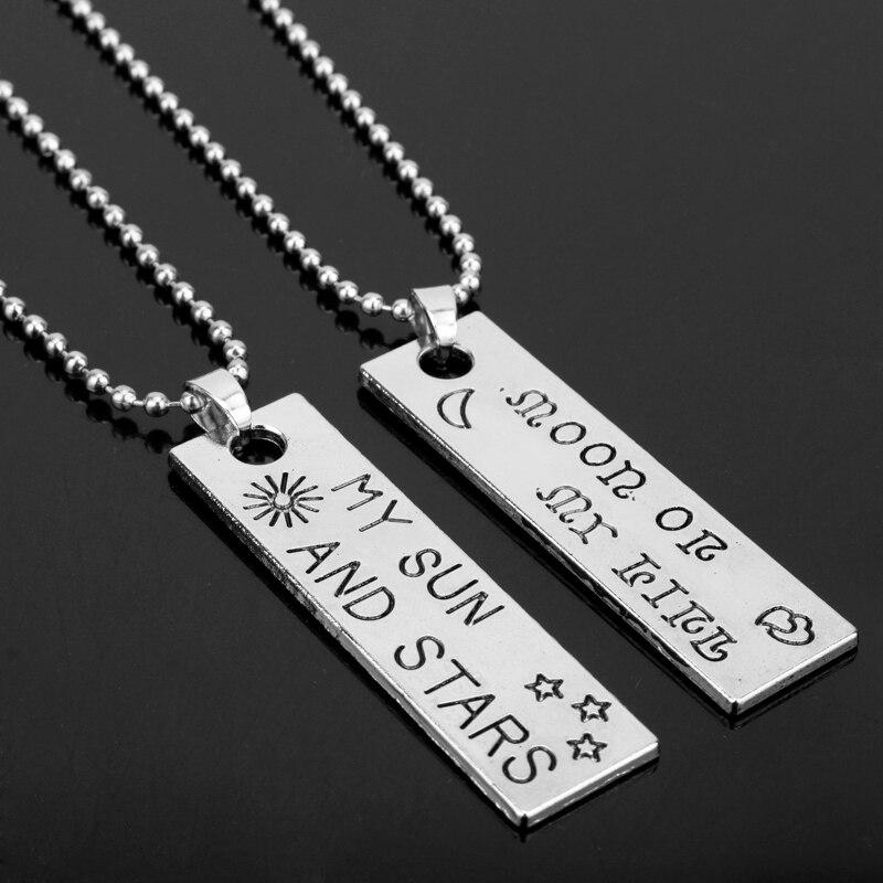 MQCHUN Moon Of My Life My Sun and ожерелье со подвеской из звезд для женщин и мужчин, ожерелья для влюбленных, подарок для влюбленных-30