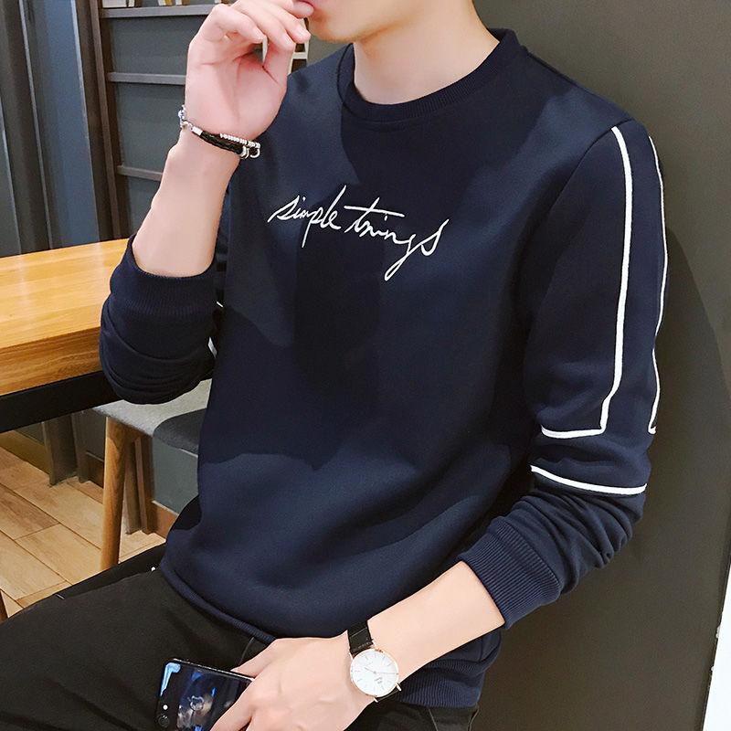 Garments for men with velvet and thick Korean long sleeves 2019