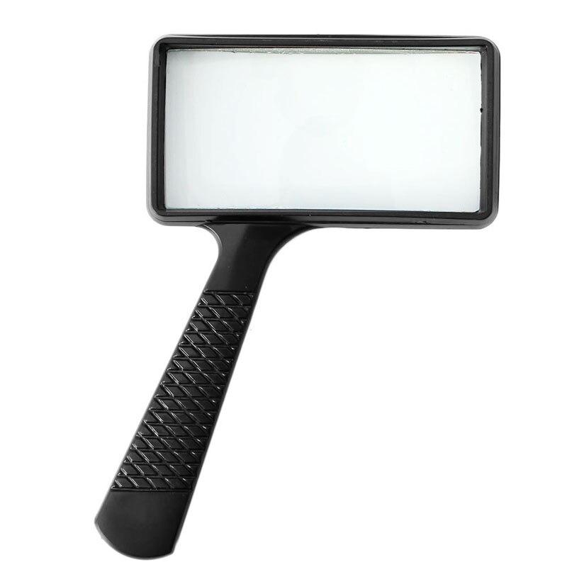 Ручной прямоугольный 5X Лупа увеличительное стекло лупа для чтения ювелирных изделий новый