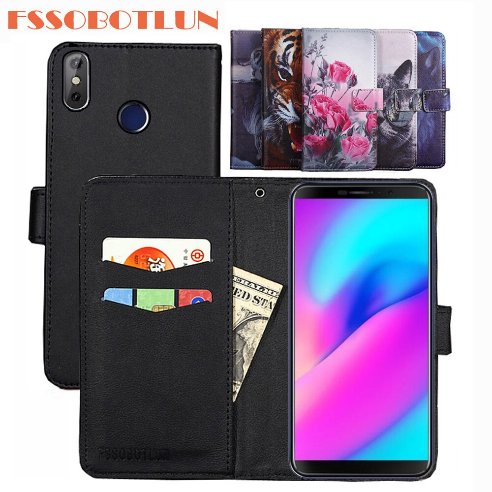 FSSOBOTLUN 9 Colors For Cubot J3 Pro Case PU Leather Retro Flip Cover Shell Magnetic Fashion Wallet